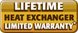 Lifetime Heat Exchanger Limited Warranty